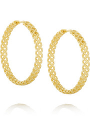 Gucci 18-karat gold hoop earrings