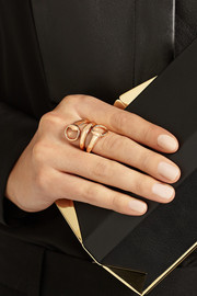 Gucci 18-karat rose gold horsebit ring