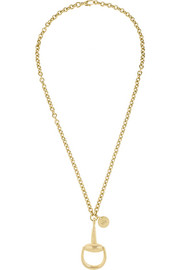 Gucci 18-karat gold horsebit necklace