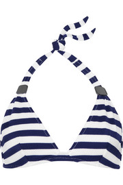 Eda Biarritz striped textured-jersey bikini top