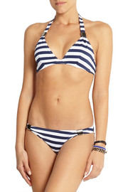 Eda Biarritz striped textured-jersey bikini briefs