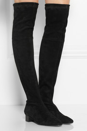 Robert Clergerie Cali stretch-suede over-the-knee boots
