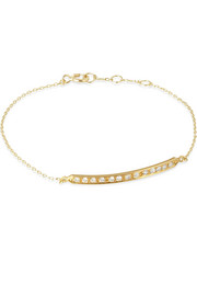 Halleh 18-karat gold diamond bar bracelet
