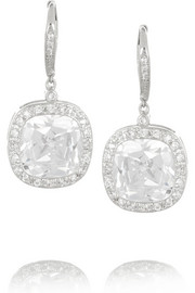 Kenneth Jay Lane Silver-plated cubic zirconia earrings