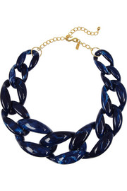 Kenneth Jay Lane Resin chain-link necklace