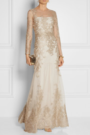 Notte by Marchesa Embroidered tulle gown