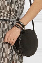 Chan Luu Rose gold-plated and leather five wrap bracelet