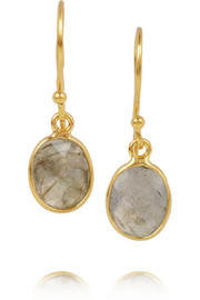 Chan Luu Gold-plated labradorite earrings