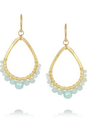 Chan Luu Gold-plated amazonite earrings