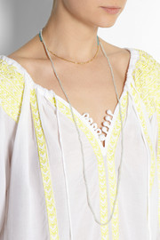 Chan Luu Set of two gold-plated and amazonite necklaces