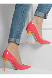 Sophia Webster Coco neon patent-leather pumps