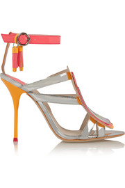 Sophia Webster Marissa metallic and neon leather sandals
