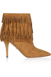 Sasha fringed suede ankle boots