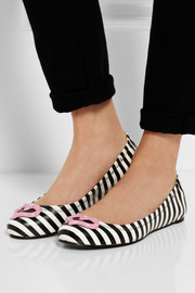Sophia Webster Miami striped leather ballet flats