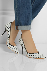 Sophia Webster Lola polka-dot leather pumps