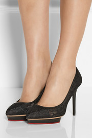 Charlotte Olympia Debbie lace pumps