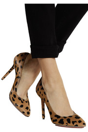 Charlotte Olympia Monroe animal-print calf hair pumps