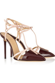 Charlotte Olympia Trixy patent-leather T-bar pumps