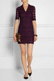 Missoni Crochet-knit wool-blend dress