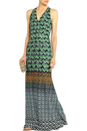 Missoni Metallic crochet-knit gown