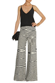 Missoni Space-dyed wool-blend wide-leg pants