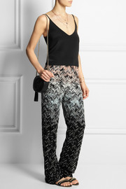 Missoni Ombré crochet-knit wide-leg pants