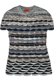 Missoni Scalloped crochet-knit top
