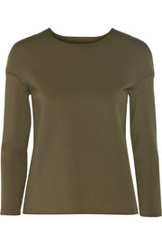 J Brand Darc stretch-scuba jersey top