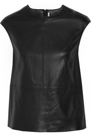 J Brand Karo leather top