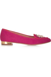 Charlotte Olympia Year of the Rat suede slippers