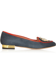 Charlotte Olympia Year of the Ox suede slippers