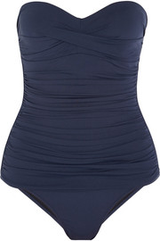 Heidi Klein Ravello ruched bandeau swimsuit