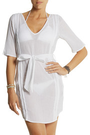 Heidi Klein Puerto Rico pintucked cotton-muslin tunic