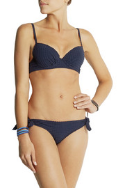 Heidi Klein Vernazza seersucker padded push-up bikini