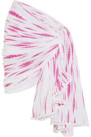 Saint Lucia pompom-trimmed voile sarong