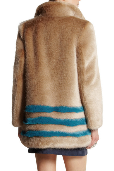 73679a55c0d Wilma striped faux fur coat.  398. Final Sale - This item is  non-returnable. Play