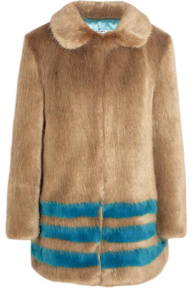 181a833f5e6 Shrimps. Wilma striped faux fur coat