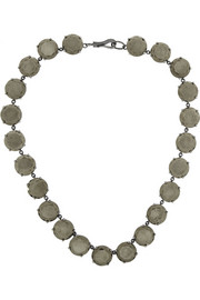 Bottega Veneta Oxidized sterling silver pyrite necklace