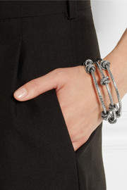 Bottega Veneta Set of three intrecciato sterling silver bracelets