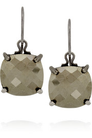 Bottega Veneta Oxidized sterling silver pyrite earrings