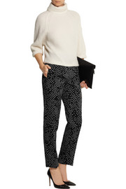 Bottega Veneta Cotton-blend jacquard straight-leg pants