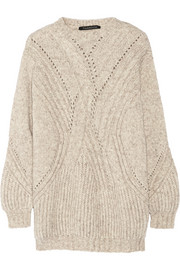 Thakoon Mélange cable-knit sweater