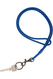 Bottega Veneta Intrecciato leather lanyard keychain