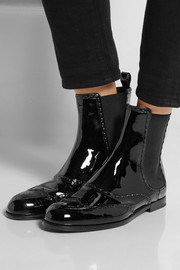 Bottega Veneta Patent-leather Chelsea boots