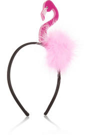 Piers Atkinson Tropical flamingo headband