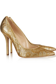Dec metallic jacquard pumps
