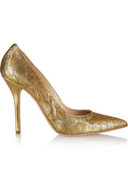 Oscar de la Renta Dec metallic jacquard pumps