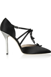 Oscar de la Renta Alice bow-embellished satin pumps