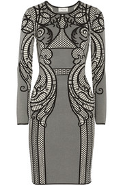 Temperley London Lavinia intarsia stretch-knit dress