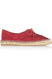 Dolly silk-jacquard espadrille flats